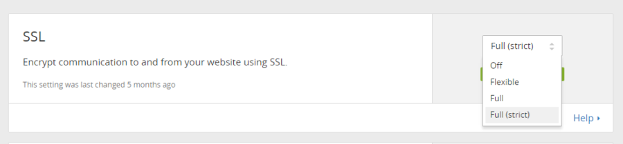 cloudflare ssl full strict
