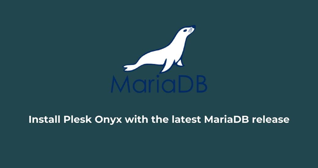MariaDB Plesk