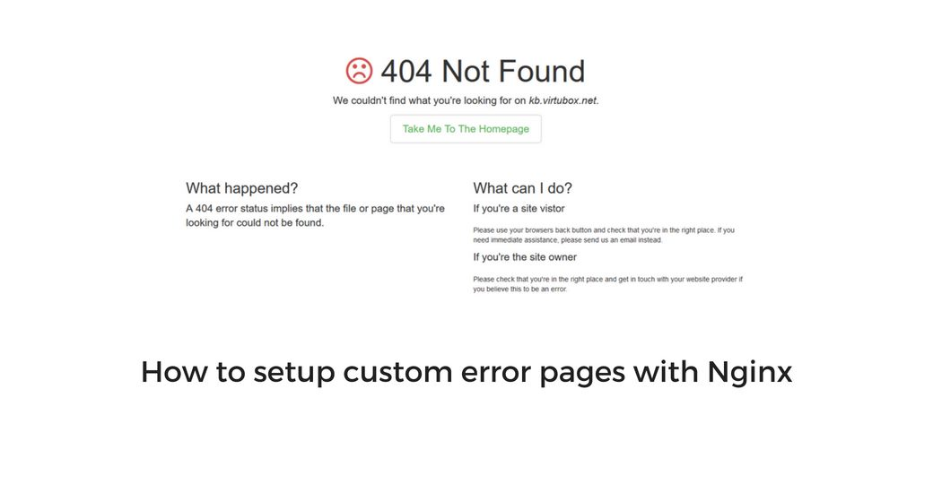 How To Setup Custom Error Pages